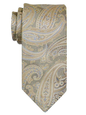 Heritage House 24555 100% Silk Boy's Tie - Paisley - Tan Boys Tie Heritage House