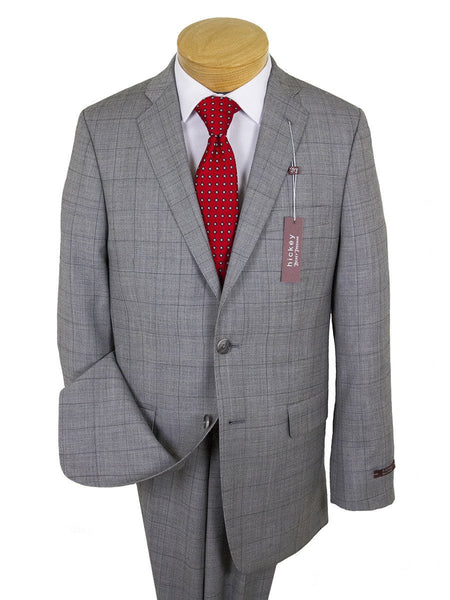 Hickey 24632 100% Wool Boy's Suit - Plaid - Gray