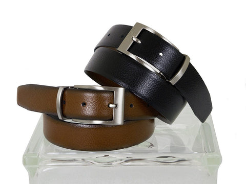 Paul Lawrence 24684 100% Genuine Leather Boy's Belt - Reversible - Black/Cogn Boys Belt Paul Lawrence
