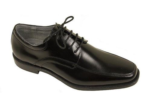 Florsheim 24760 Full-Grain Leather Boy's Shoe - Moc Toe Oxford - Black Boys Shoes Florsheim