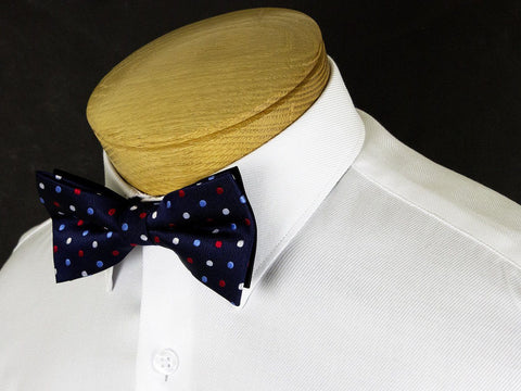 Boy's Bow Tie 24912 Navy/Red Polka Dot Boys Bow Tie Status