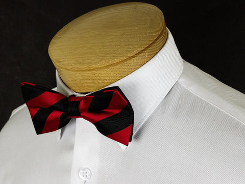 Boy's Bow Tie 24918 Black/Red Stripe Boys Bow Tie Status