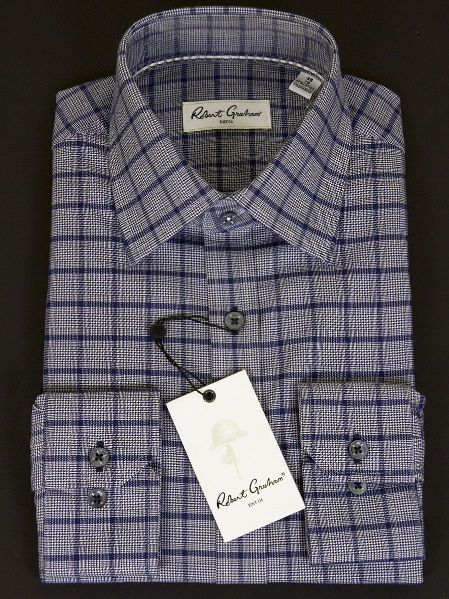 Robert Graham 25019  Men's Navy Plaid
