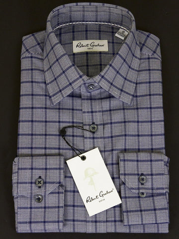 Robert Graham 25019 Men's Navy Plaid Mens L/S Woven Robert Graham