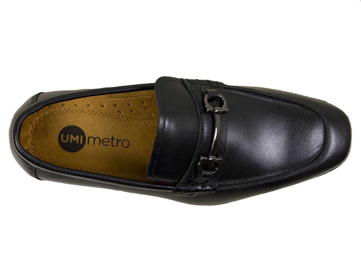 Umi Boys Shoe 25045 Black Bit Loafer
