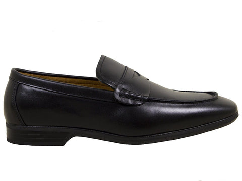 Image of Umi Boys Shoe 25056 Black Penny Loafer Boys Shoes Umi