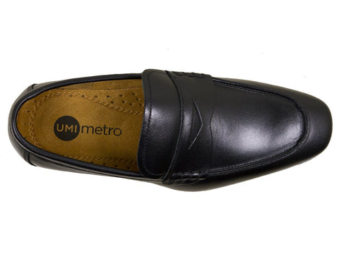 Umi Boys Shoe 25056 Black Penny Loafer Boys Shoes Umi