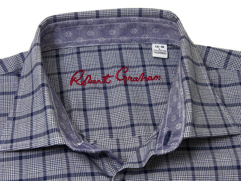 Robert Graham 25087 Navy Plaid