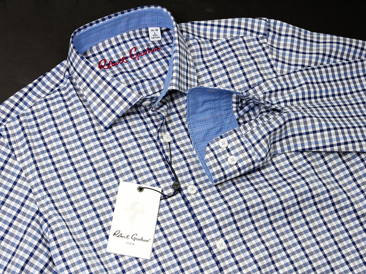 Robert Graham 25097 Blue Plaid