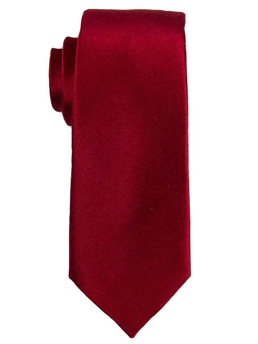 Heritage House 25127 100% Silk Boy's Tie - Solid Satin - Red