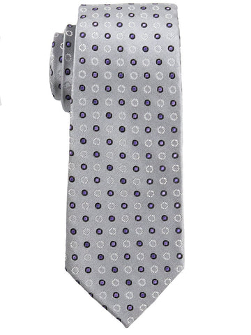 Heritage House 25152 100% Silk Boy's Tie - Neat - Gray/Purple Boys Tie Heritage House