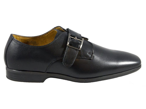 Image of Umi Boys Shoe 25183 Black Monk Strap Boys Shoes Umi