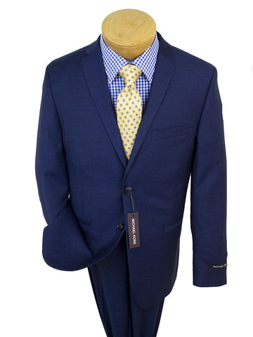 Michael Kors 25258 100% Wool Boy's Suit -Sharkskin - Blue Boys Suit Michael Kors