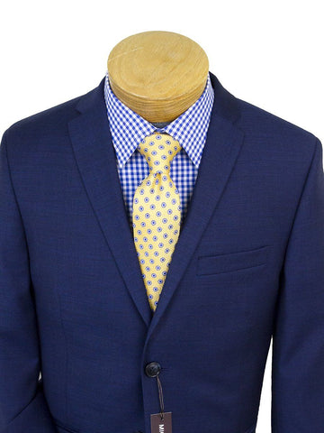Michael Kors 25258 100% Wool Boy's Suit -Sharkskin - Blue