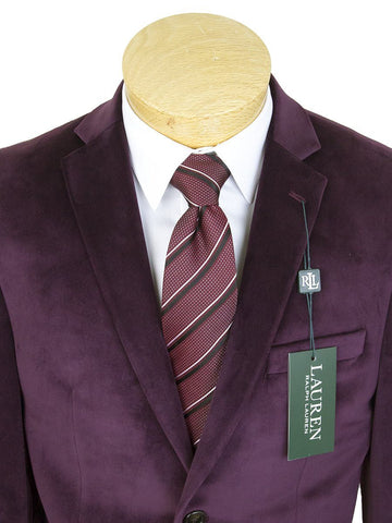 Image of Lauren Ralph Lauren 25288 Boy's Sport Coat-Burgundy Velvet Boys Sport Coat Lauren