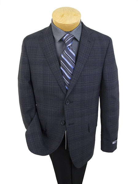 DKNY 25369 96% Wool/4% Lycra Boy's Sport Coat - Plaid - Blue/Black