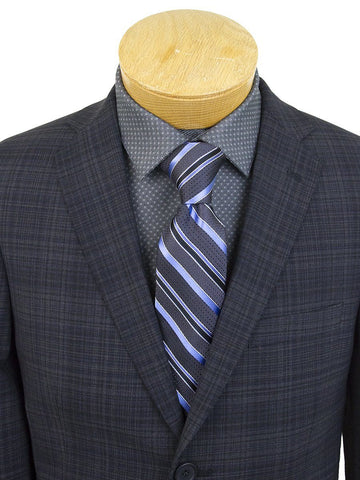 Image of DKNY 25369 96% Wool/4% Lycra Boy's Sport Coat - Plaid - Blue/Black Boys Sport Coat DKNY