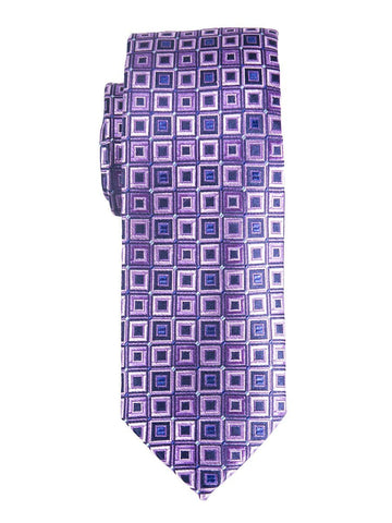 Heritage House 25391 100% Silk Boy's Tie - Neat - Purple/Navy Boys Tie Heritage House