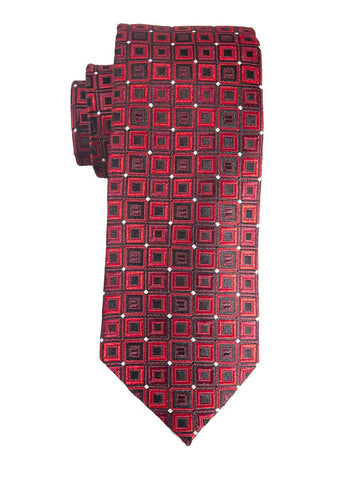 Heritage House 25400 100% Silk Boy's Tie - Neat - Red/Black Boys Tie Heritage House