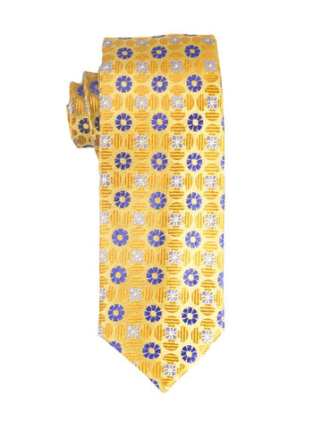 Heritage House 25409 100% Silk Boy's Tie - Neat - Blue/Gold Boys Tie Heritage House