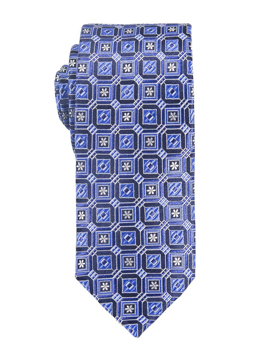Heritage House 25418 100% Silk Boy's Tie - Neat - Blue/Navy