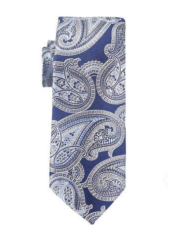 Heritage House 25439 100% Woven Silk Boy's Tie - Paisley - Purple/Blue/Khaki Boys Tie Heritage House