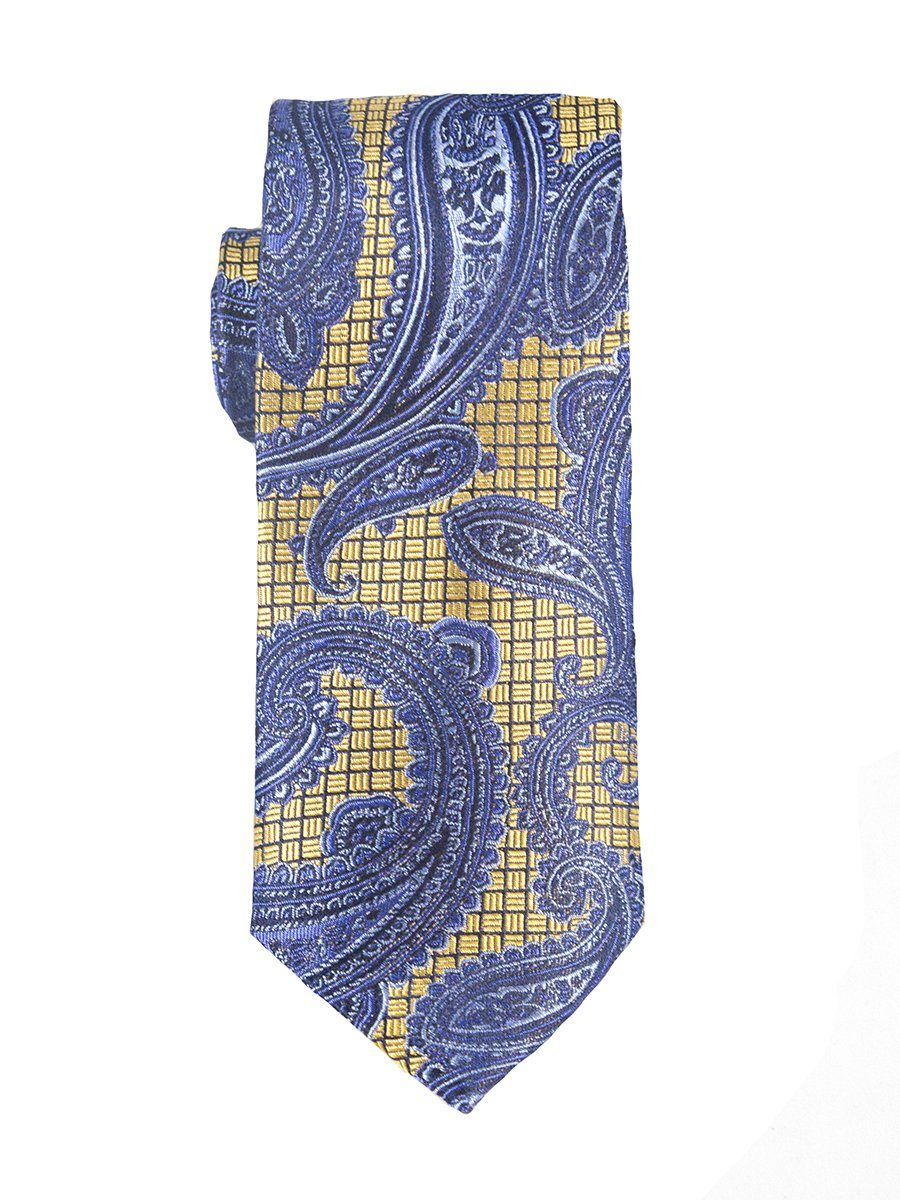 Heritage House 25445 100% Woven Silk Boy's Tie - Paisley - Blue/Gold