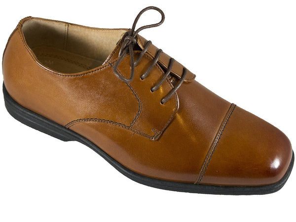 Florsheim 25546 Lace-Up Boy's Shoe - Cap Toe- Oxford- Cogn