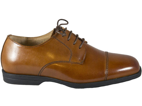 Image of Florsheim 25546 Lace-Up Boy's Shoe - Cap Toe- Oxford- Cogn Boys Shoes Florsheim