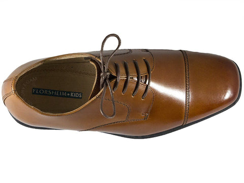 Florsheim 25546 Lace-Up Boy's Shoe - Cap Toe- Oxford- Cogn Boys Shoes Florsheim