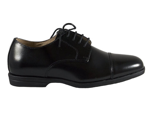 Florsheim 25586 Lace-Up Boy's Shoe - Cap Toe- Oxford- Black