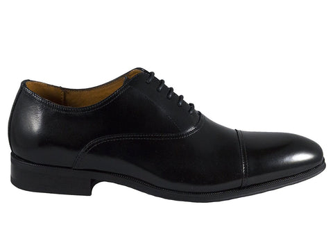 Florsheim 25596 Full-Grain Leather Boy's Shoe - Cap Toe Oxford - Black