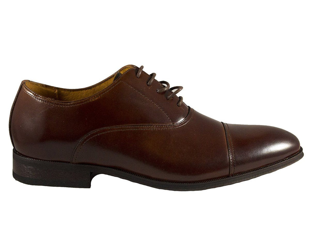 Florsheim 25608 Full-Grain Leather Boy's Shoe - Cap Toe Oxford Cogn Boys Shoes Florsheim