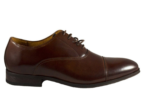 Florsheim 25608 Full-Grain Leather Boy's Shoe - Cap Toe Oxford Cognac
