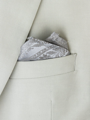 Boy's Pocket Square 25694 Silver Boys Pocket Square Heritage House