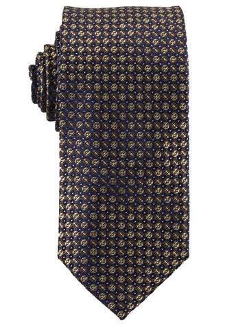Heritage House 25753 100% Silk Boy's Tie - Neat - Brown/Navy Boys Tie Heritage House