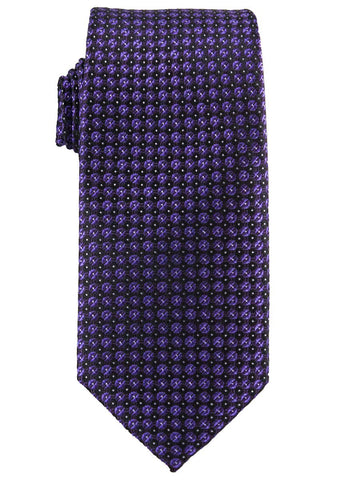 Heritage House 25765 100% Silk Boy's Tie - Neat - Purple/Black Boys Tie Heritage House