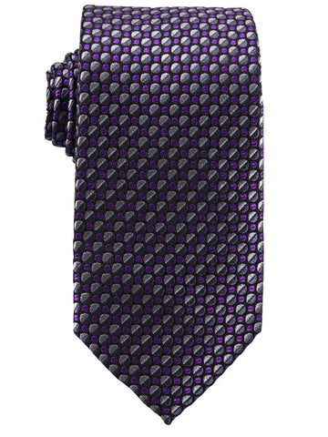 Heritage House 25777 100% Silk Boy's Tie - Neat - Grey/Purple/Black Boys Tie Heritage House