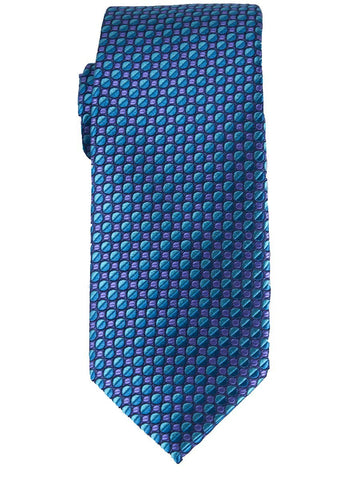 Heritage House 25780 100% Silk Boy's Tie - Neat - Turquoise/Purple Boys Tie Heritage House