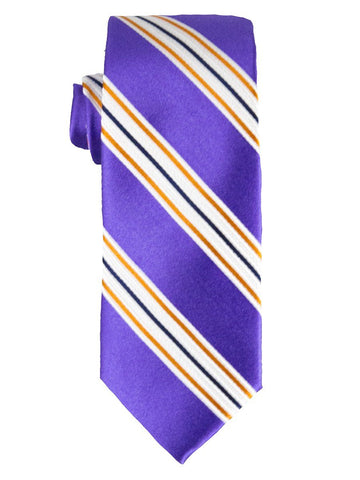 Heritage House 25792 100% Silk Boy's Tie - Stripe - Purple/Orange Boys Tie Heritage House