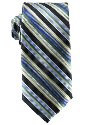 Heritage House 25826 100% Silk Boy's Tie - Stripe - Blue/Green/Black Boys Tie Heritage House