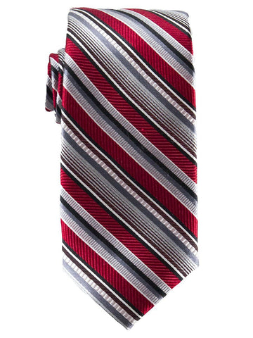 Heritage House 25829 100% Silk Boy's Tie - Stripe - Red/Silver Boys Tie Heritage House