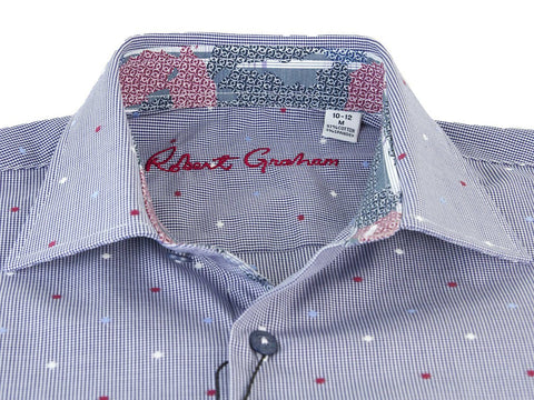 Image of Robert Graham 25883 Navy Dots