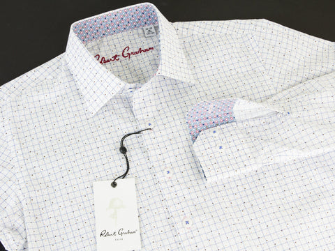 Robert Graham 25891 White Print Boys L/S Woven Robert Graham