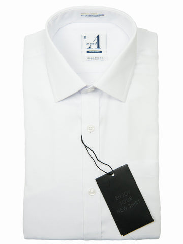 Alviso 25985 Boys Dress Shirt-Tonal Weave-White-Classic Fit Boys Dress Shirt Alviso
