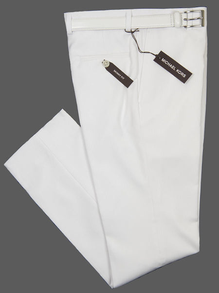 MICHAEL KORS • BOYS SUIT SEPARATES • SKINNY FIT • WHITE • PANT ONLY