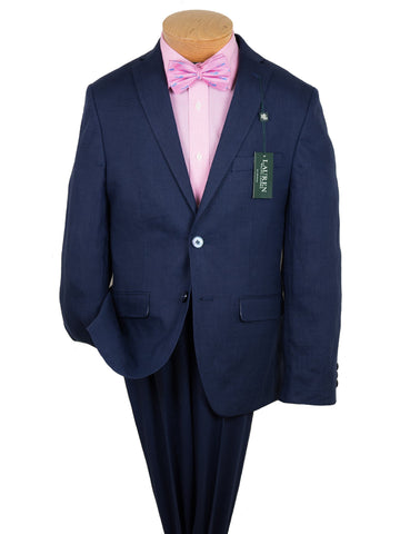 Lauren Ralph Lauren 26094 100% Linen Boy's Suit Separate Jacket - Solid Linen - Navy Boys Suit Separate Jacket Lauren