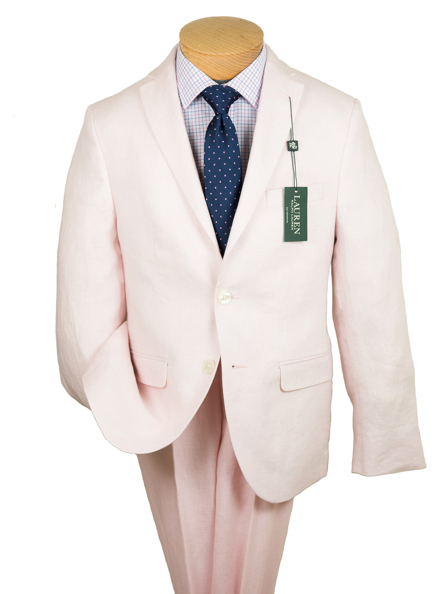 Lauren Ralph Lauren 26108 100% Linen Boy's Suit Separate Jacket - Solid Linen - Pink Boys Suit Separate Jacket Lauren