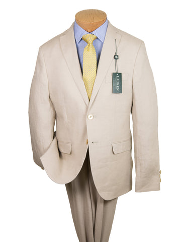 Image of Lauren Ralph Lauren 26115 100% Linen Boy's Suit Separate Jacket - Solid Linen - Tan Boys Suit Separate Jacket Lauren