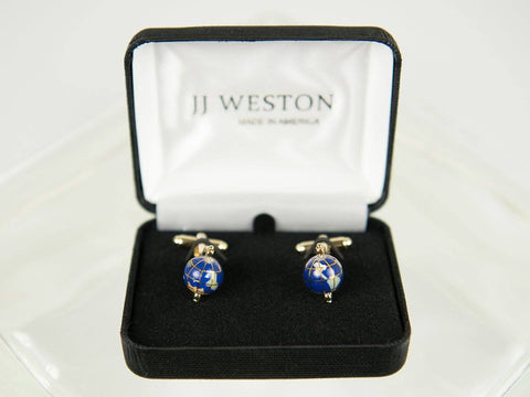 Boy's Cuff Links 26177 Gold Spinning Globe Boy's Cuff Links JJ Weston